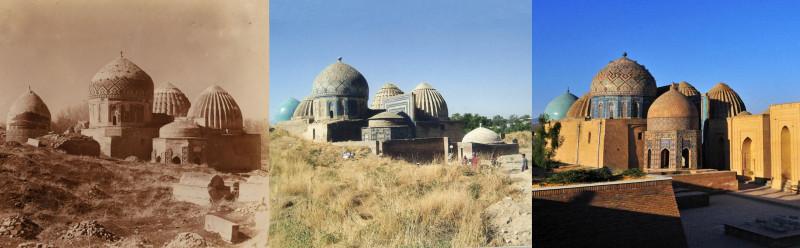 Шах-Зинде. Вид с северо-востока 1907-1999-2010е