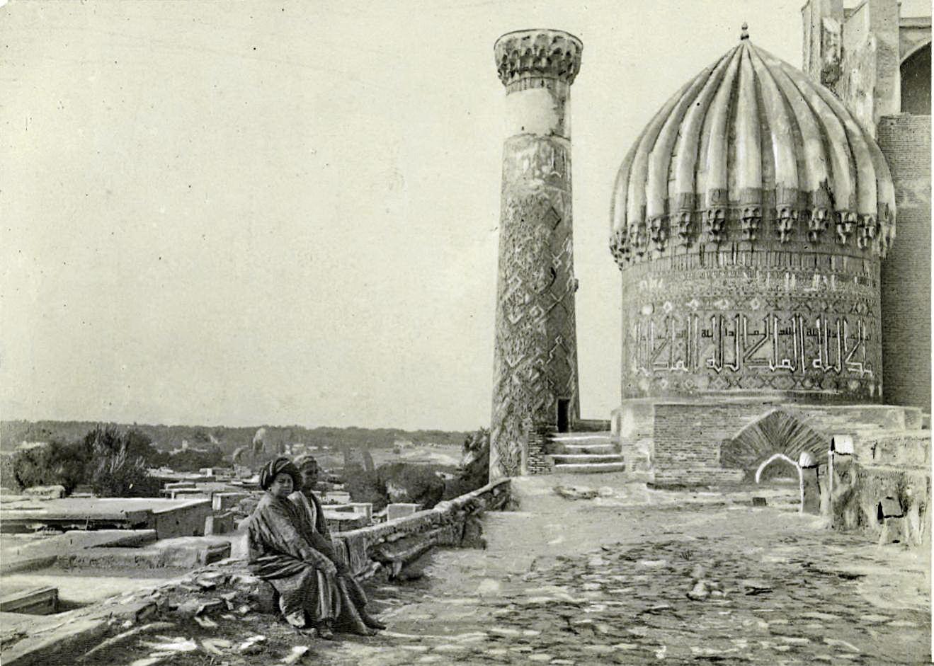 1887 Крыша медресе Шер-Дор. Aymar Eugene de la Baume Pluvinel