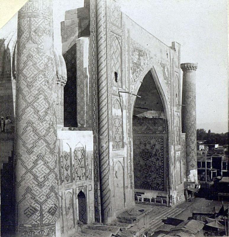1904-1905 Медресе Шер-Дор с крыши Тилля-Кари. Павловский Евгений Николаевич