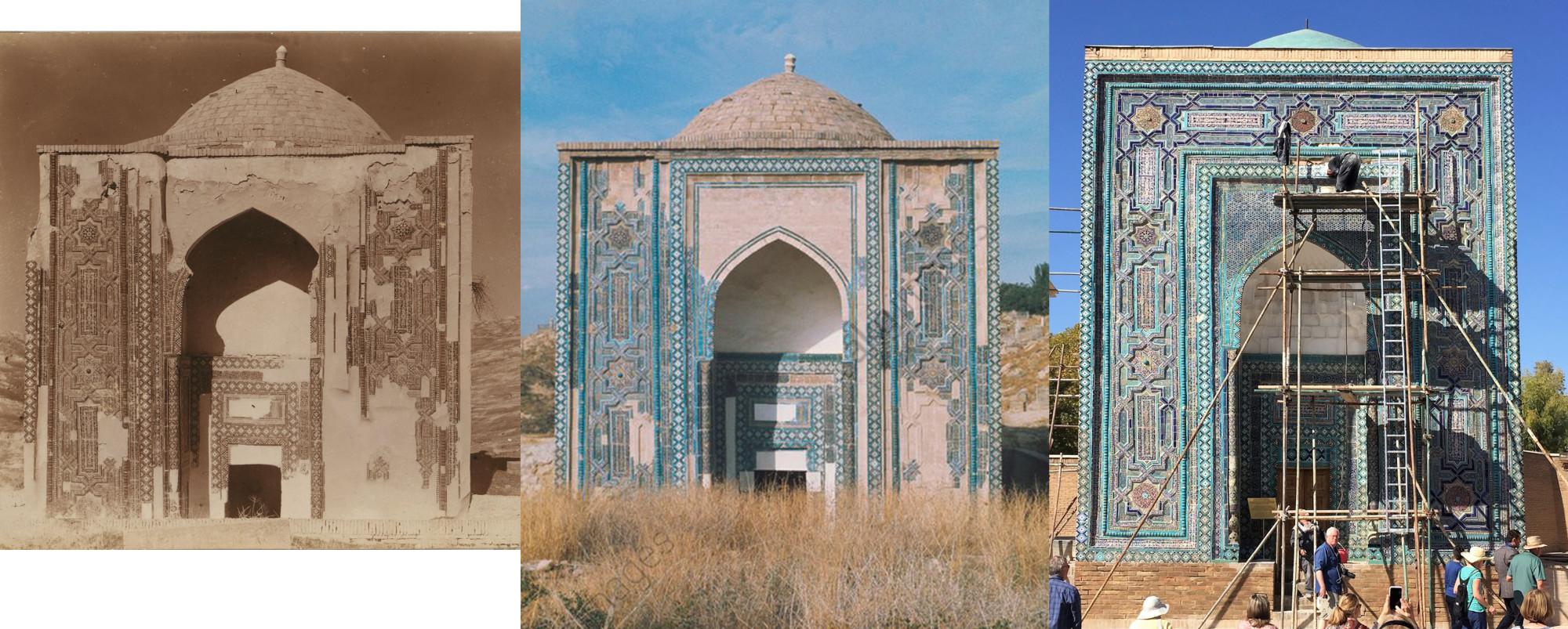 Мавзолей Усто Али Насафи XIV v 1911-1972-2017с