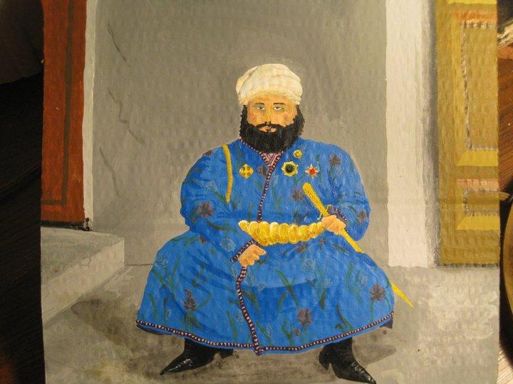 Ali Khan, Emir of Bukhara based on a photo by Sergey Prokudin-Gorsky. Wiill Ellis