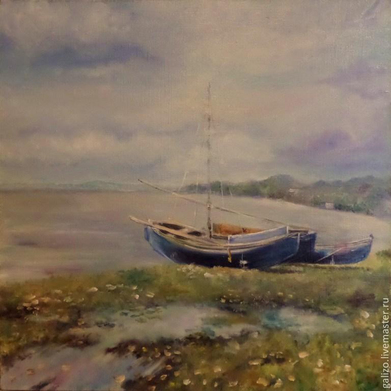 Картина маслом На берегу моря