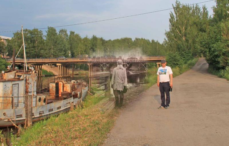 Вытегра, фото Прокудина-Горского Тип Олончанина 1909 года и фото 2019 года, для нового издания по области. Олег Зажигин