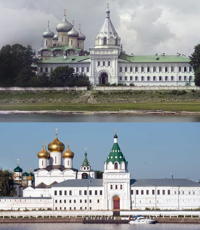 1911-2017 Водяные врата и Архиерейские покои. Ипатьевский монастырь