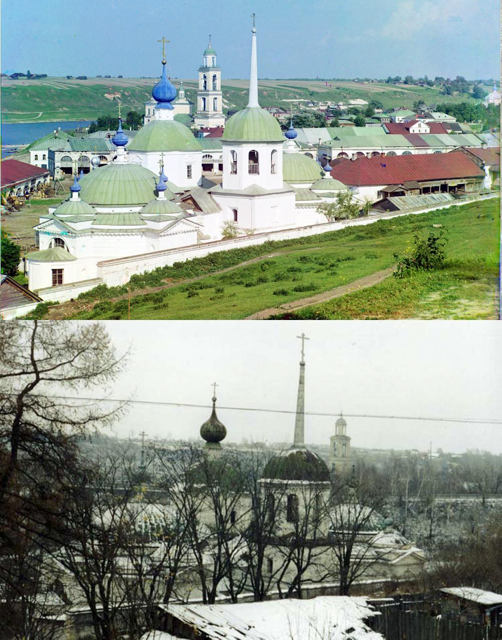 Старица Пятницкая церковь Сзади видна церковь Св Николая Чудотворца 1910- 2002