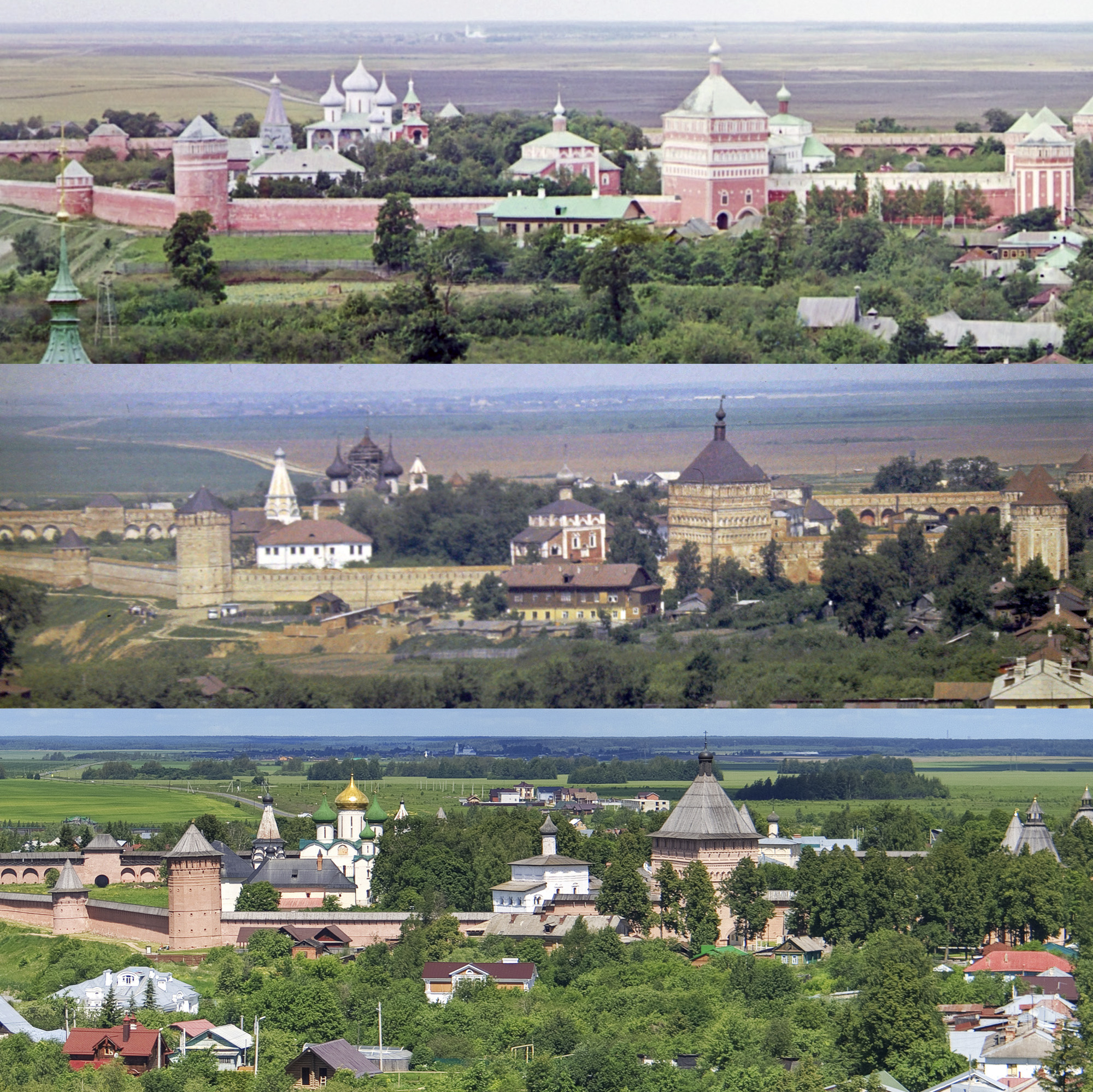 Суздаль. Вид Спасо-Ефимиевского монастыря 1912-1967-2017