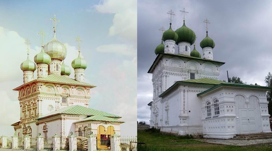 Никольская церковь, построенная в 1704 году и освящённая в январе 1705 года, явилась первым каменным зданием в Чердынском уезде