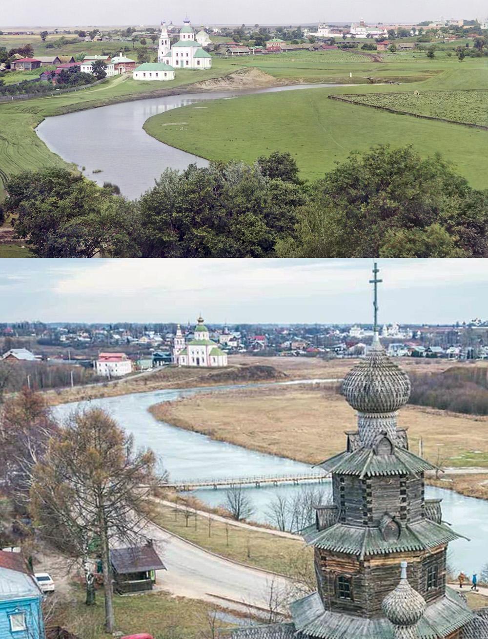 Суздаль. Вид на реку Каменку с колокольни Дмитриевской церкви 1912-2019