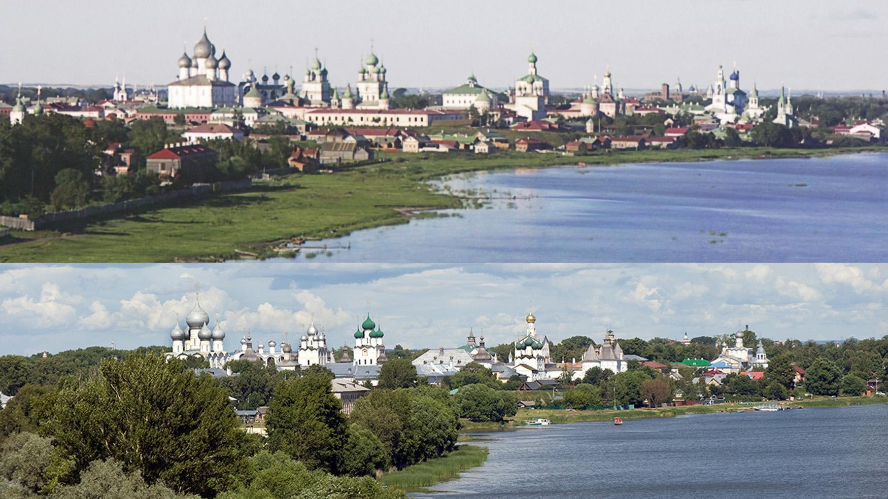Вид на Ростовский кремль 1911-2019