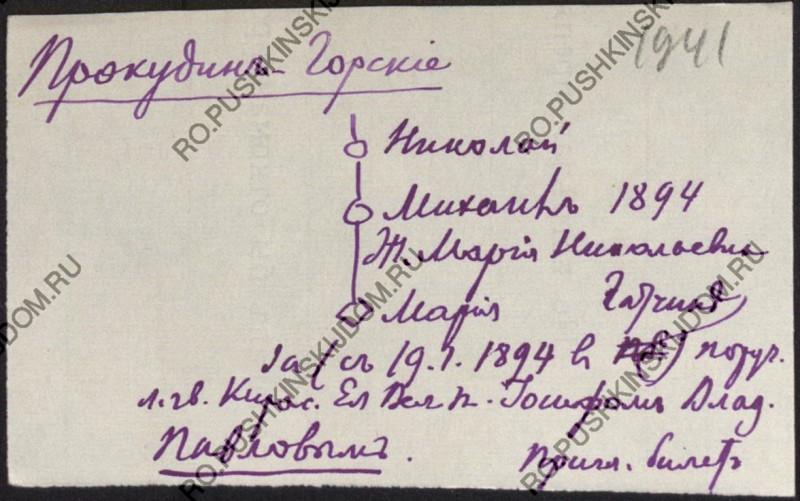 Картотека Модзалевского Б.Л
