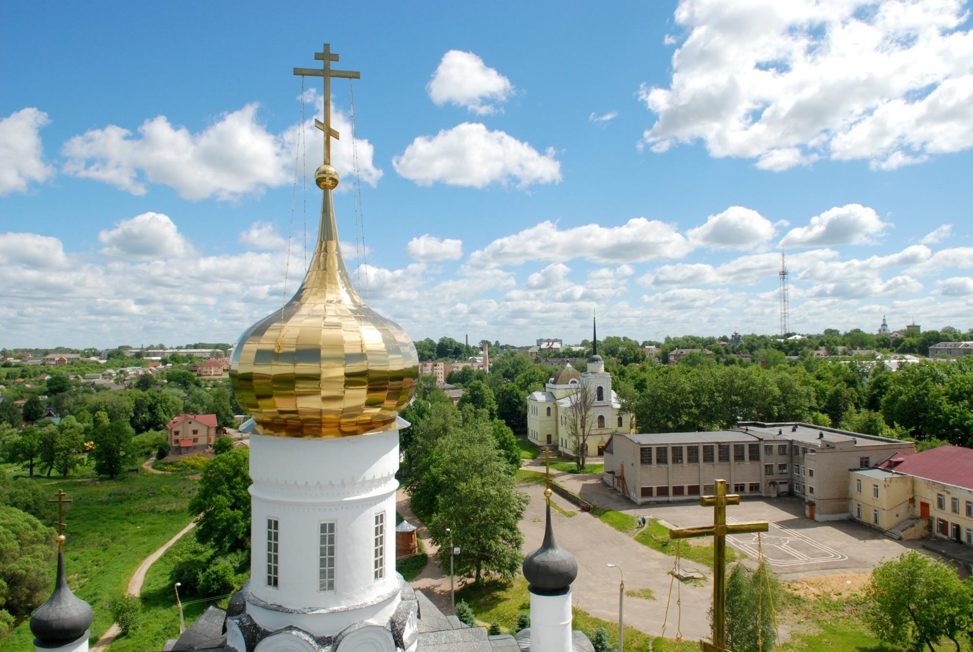 2011 Вид на Вязьму с колокольни Свято-троицкого собора. Алексей Куликов
