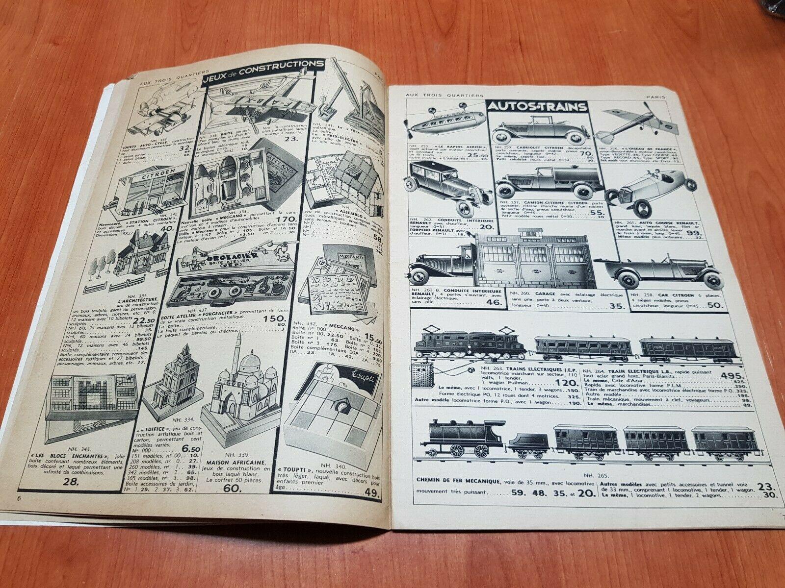 CATALOGUE JOUETS ANCIENS ETRENNES - AUX TROIS QUARTIERS 1932 GORSKY FRERES3