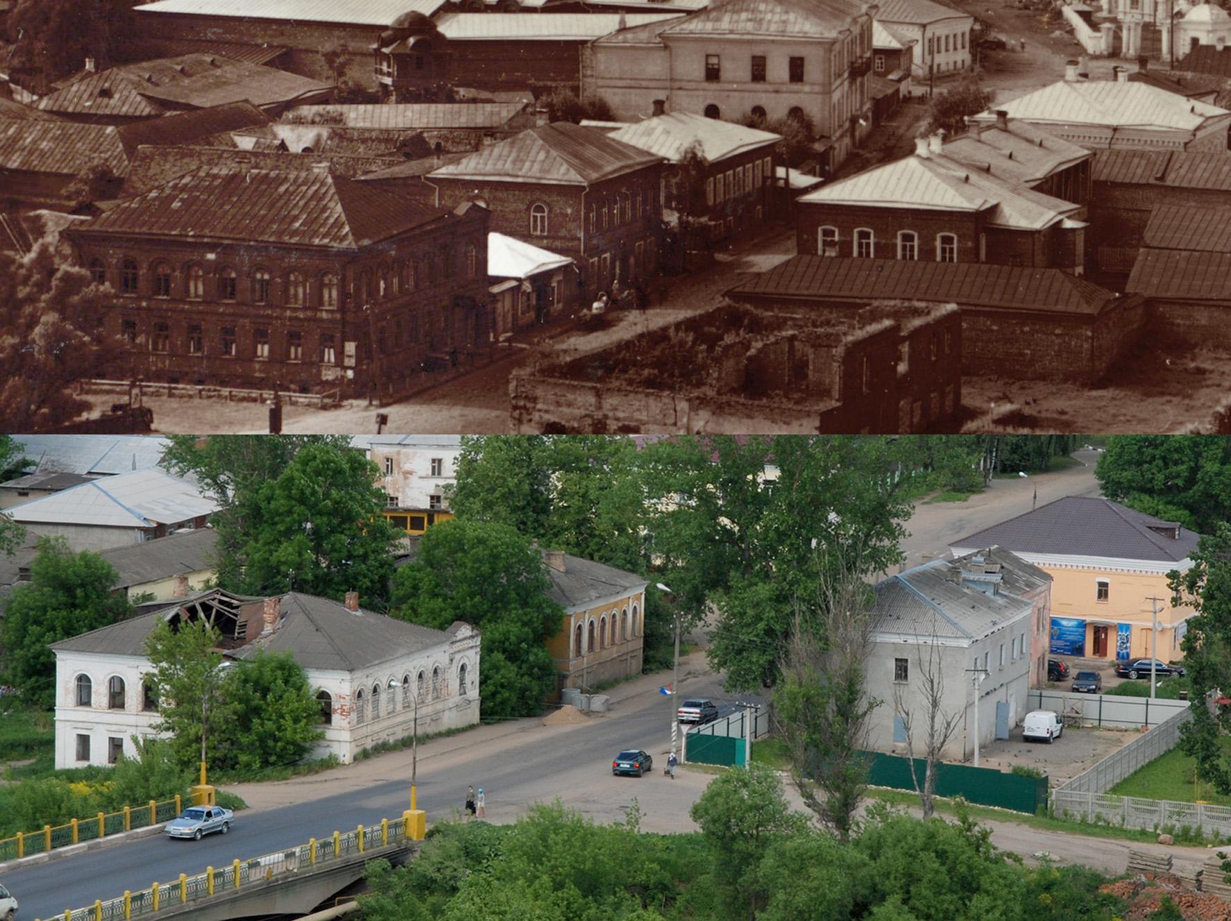 Вязьма. Общий вид города с востока 1912-2011 гг.2