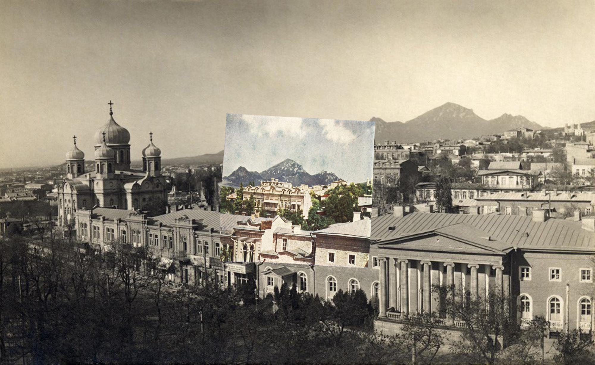 80 1900е Царская улица. Спасский собор, епархиальный дом и казенная ресторация2