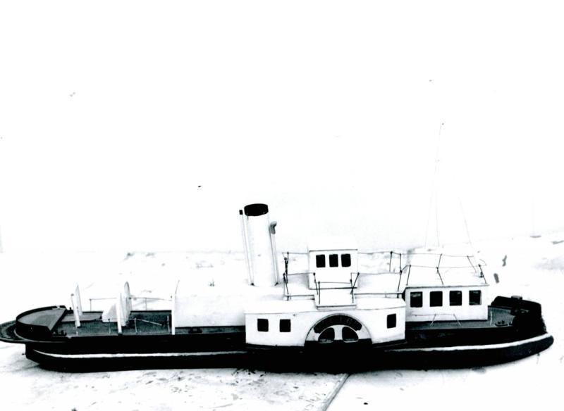 1963 Казенный служебный пароход для наблюдений реки, курсировавшей на реке Шексне в 1896 г. Модель Череповецкого Краеведческого музея. Петров В.Д.
