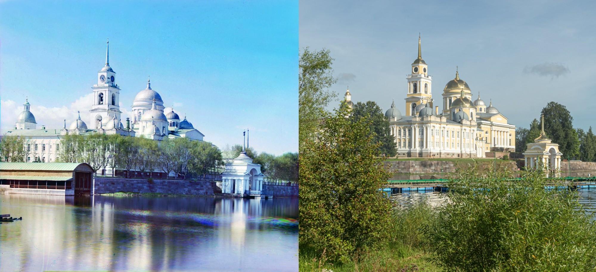 Вид монастыря преп. Нила с востока. 1910-2017 (Георгий Башкин)