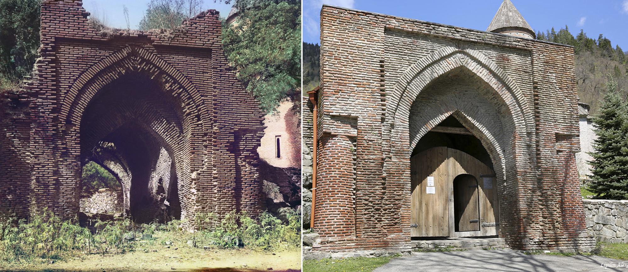 Арка перед входом в Тимотис-Убанский монастырь 1912-2015