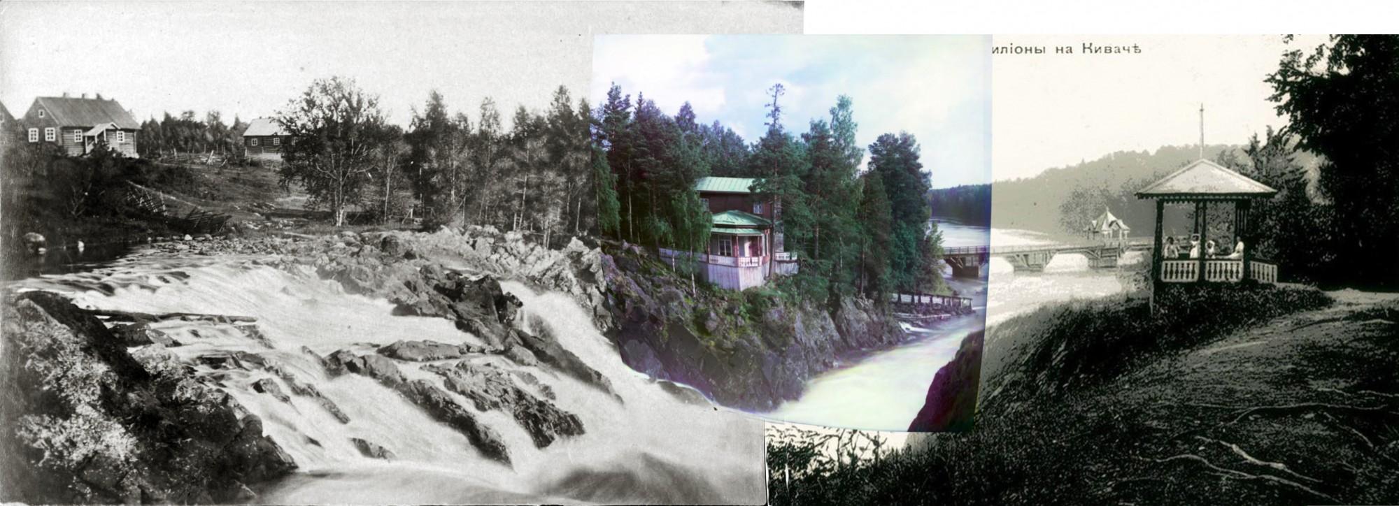 Дача около водопада Кивач, 1904 изд-во А. М. Мазилова, 1892-94 Жюль Легра (Jules Legras)1
