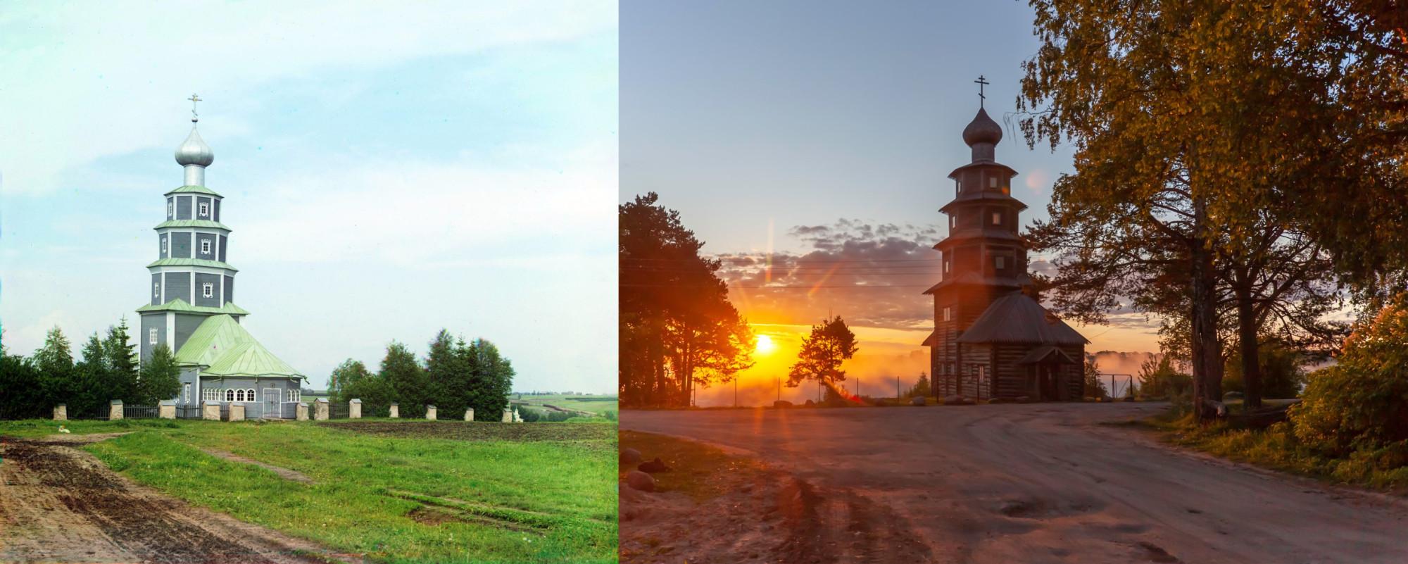 Старинная церковь Тихвинской Божьей Матери не правом берегу Тверцы. Торжок. Георгий Башкин