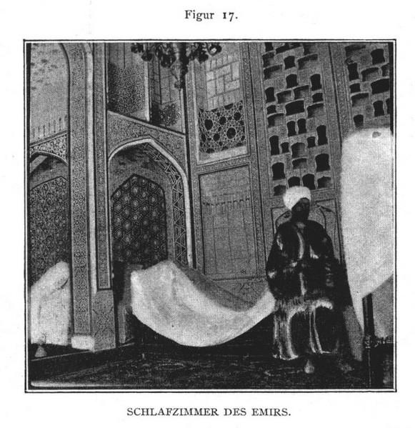 Спальня эмира Allgemeine Bauzeitung за 1899 год