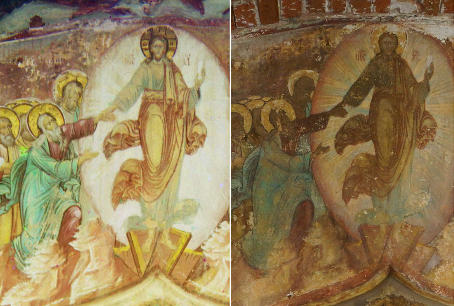 Фреска над входом в церковь Иоанна Затоуста с паперти (галлерея). Ярославль 2018 Дмитрий Чурин2