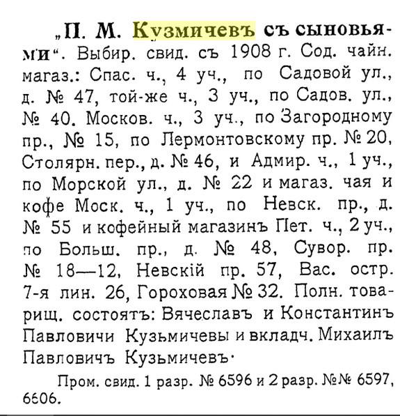 Справочная книга о купцах С.-Петербурга на 1916 год