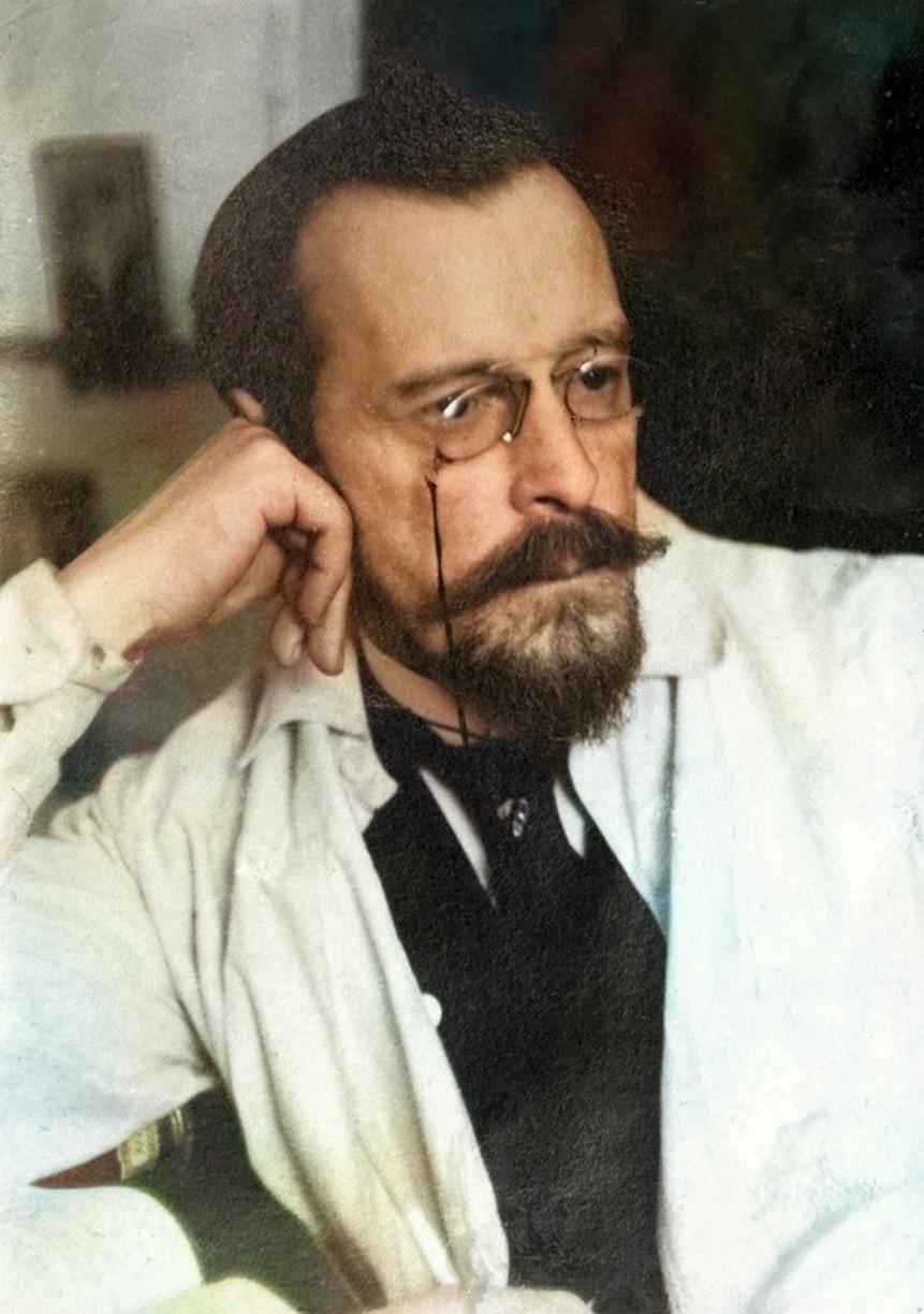 Раскрашенный портрет Прокудина-Горского
