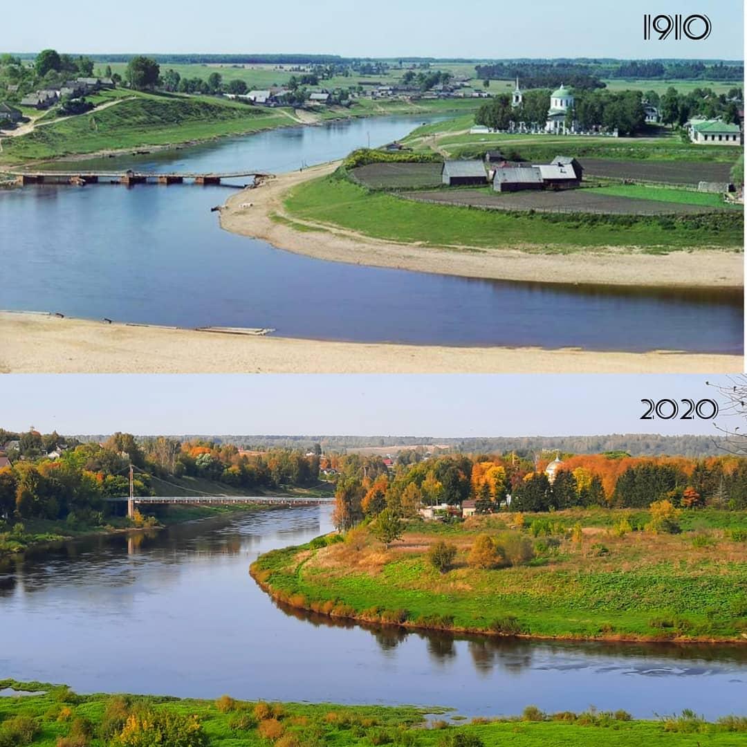 Зубцов 1910-2020. Сравнение в инстаграме historyadvent