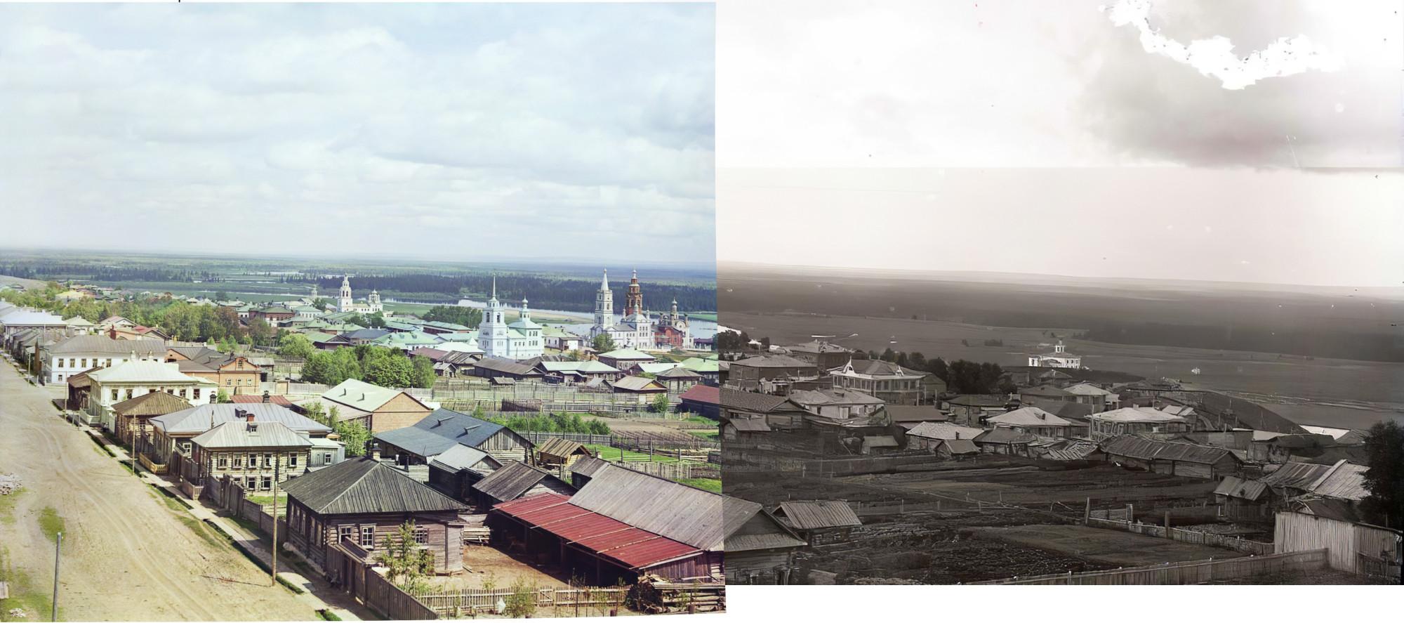Панорама Чердыни с водонапорной башни