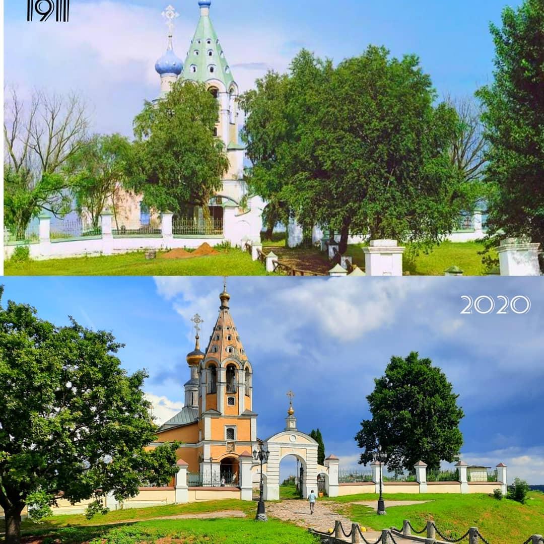 Городня 1911-2020. Сравнение в инстаграме historyadvent