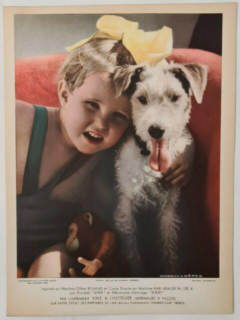 1934 Enfant et son chien Gorsky freres