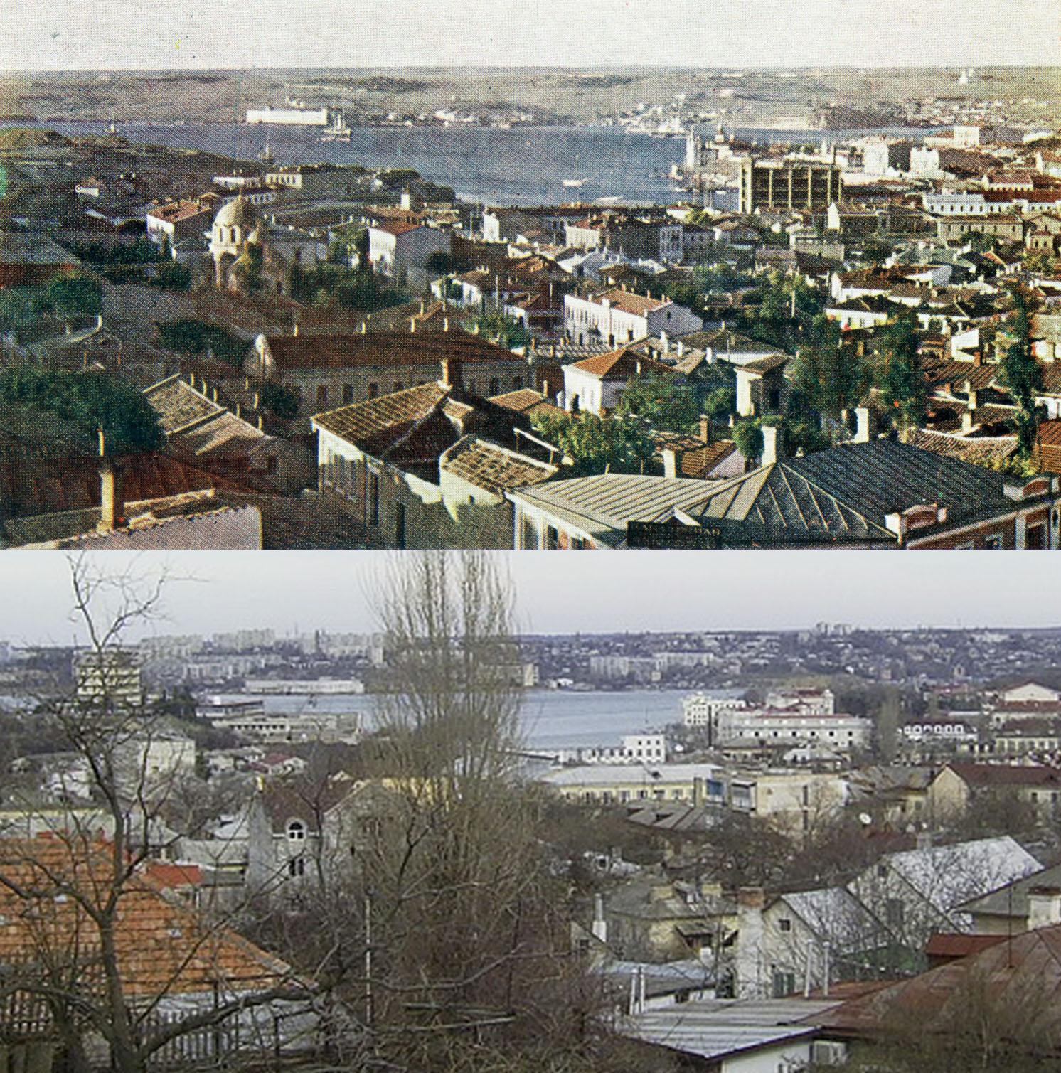 Севастополь на снимке Прокудина-Горского и 100 лет спустя