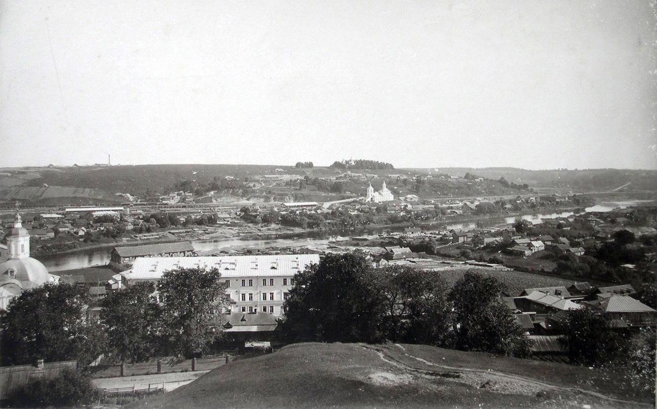 Смоленск 1901-1904 Вид северо-восточной окраины города с башни Веселуха. Н.Л. Соколов