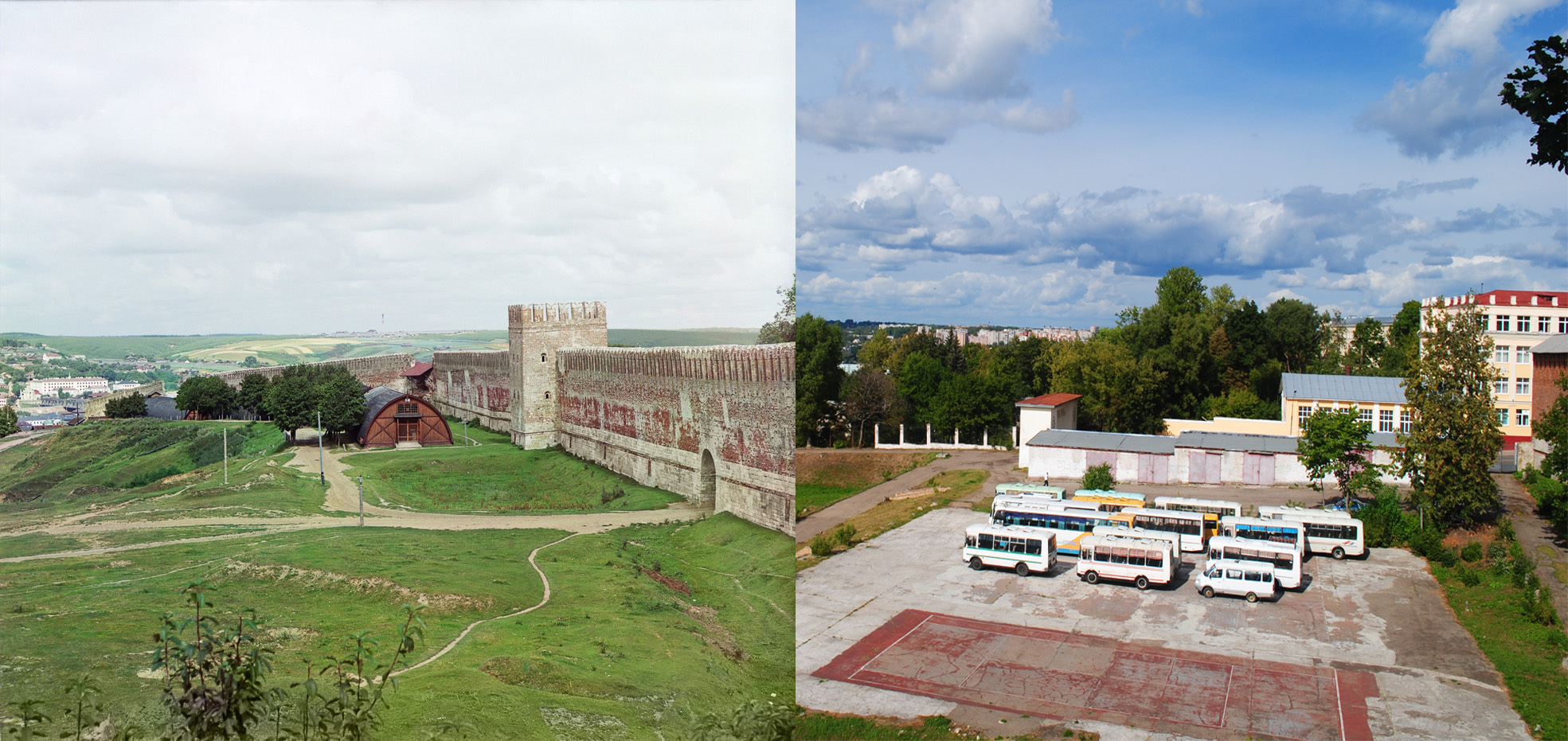Смоленск. Вид на крепостную стену из Лопатинского сада 2015 Евгений Осташ