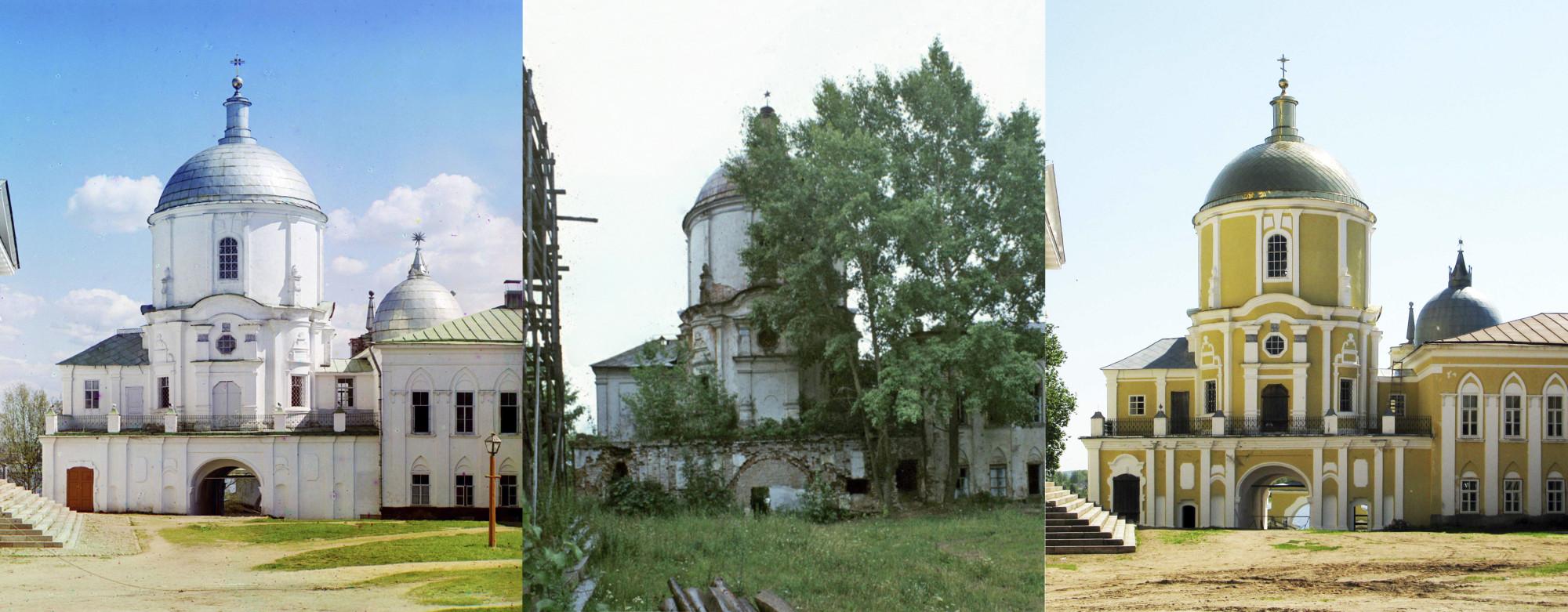 Нилова Пустынь. Надвратная Церковь Нила. XVIII в. 1910-1976-2010