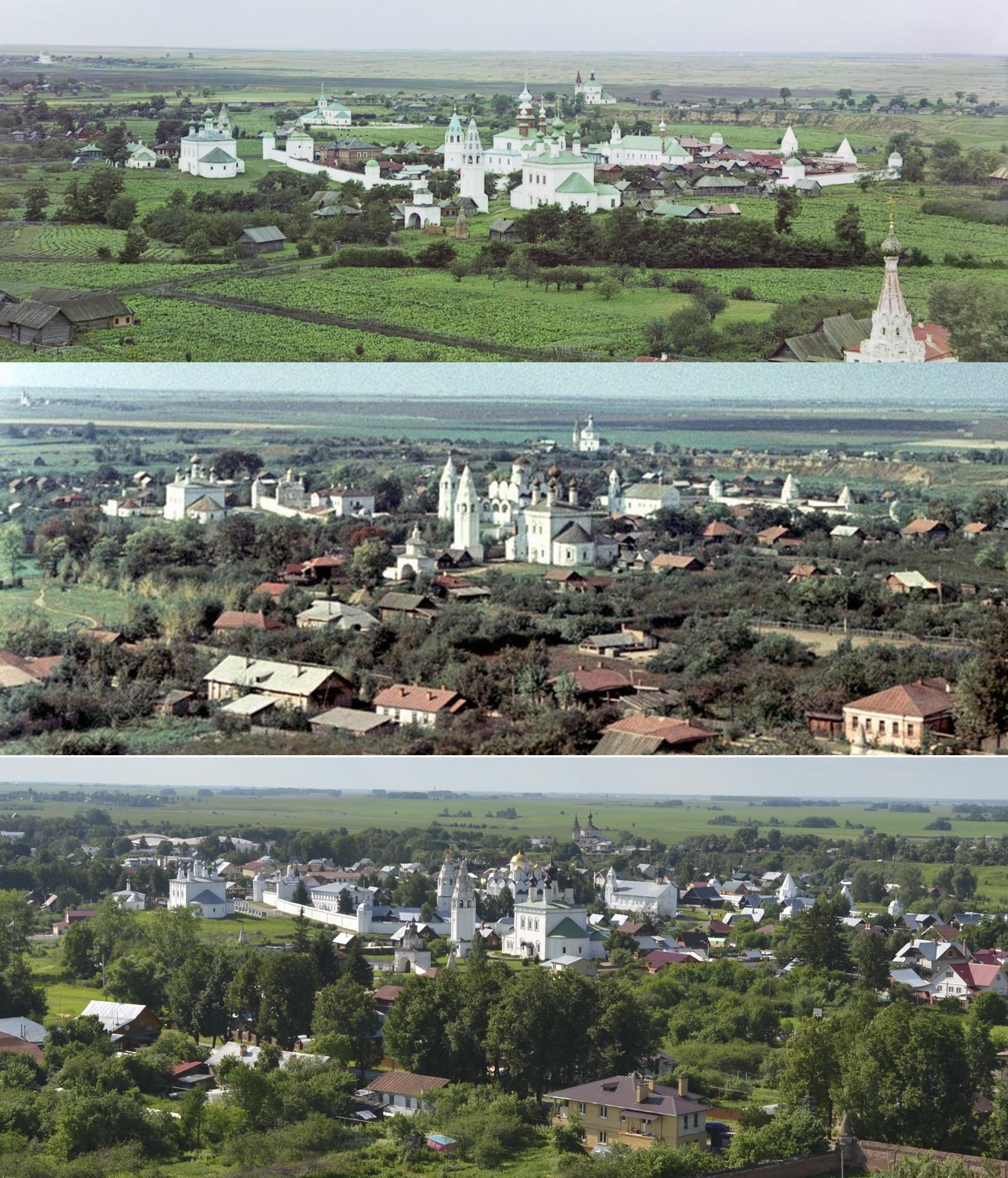 2016-1967-1912 Суздаль, вид с колокольни2