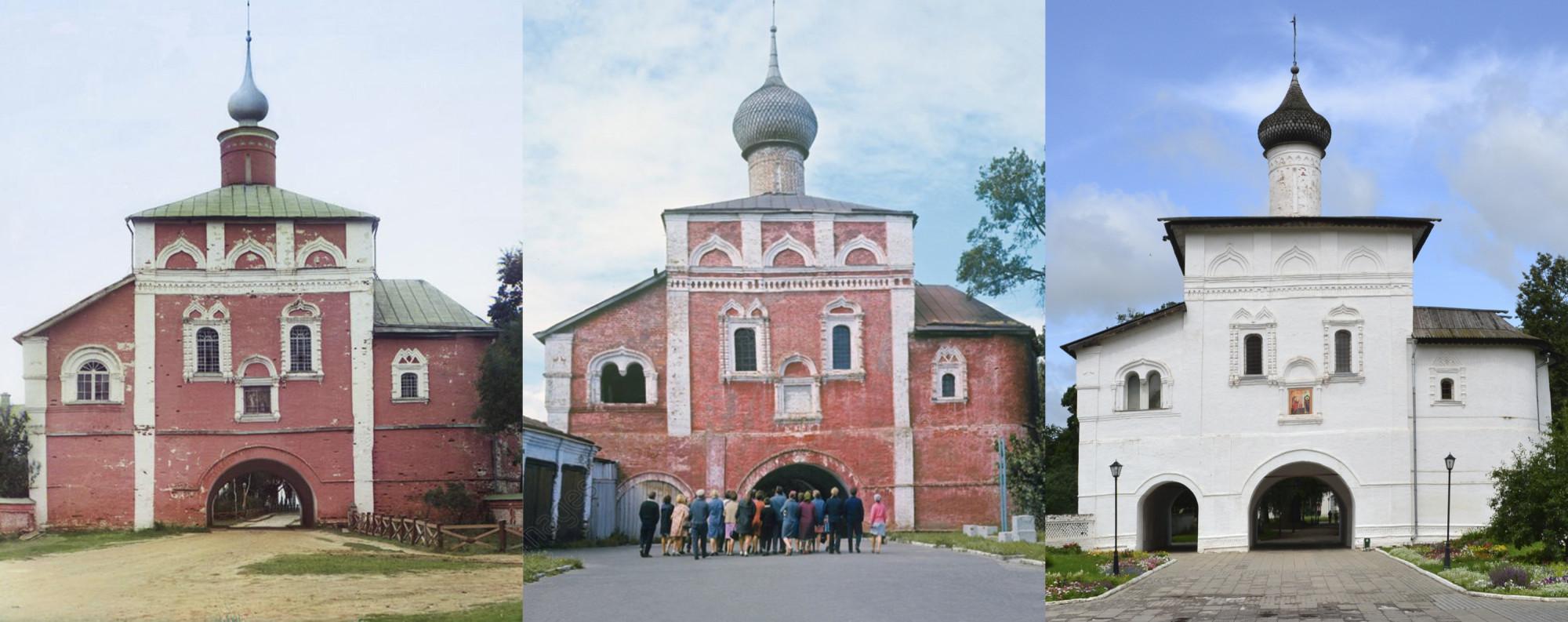 Суздаль. Надвратная Благовещенская церковь Спасо-Евфимиева монастыря. 1912-1969-2015