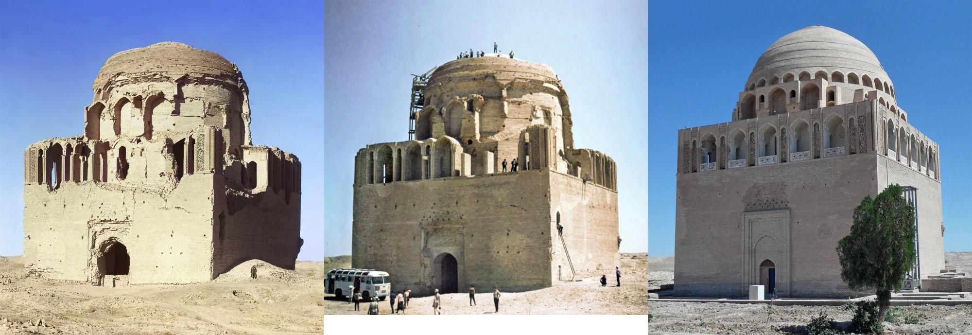 Мерв. Мавзолей султана Санджара 1911-1970-2011 гг_2