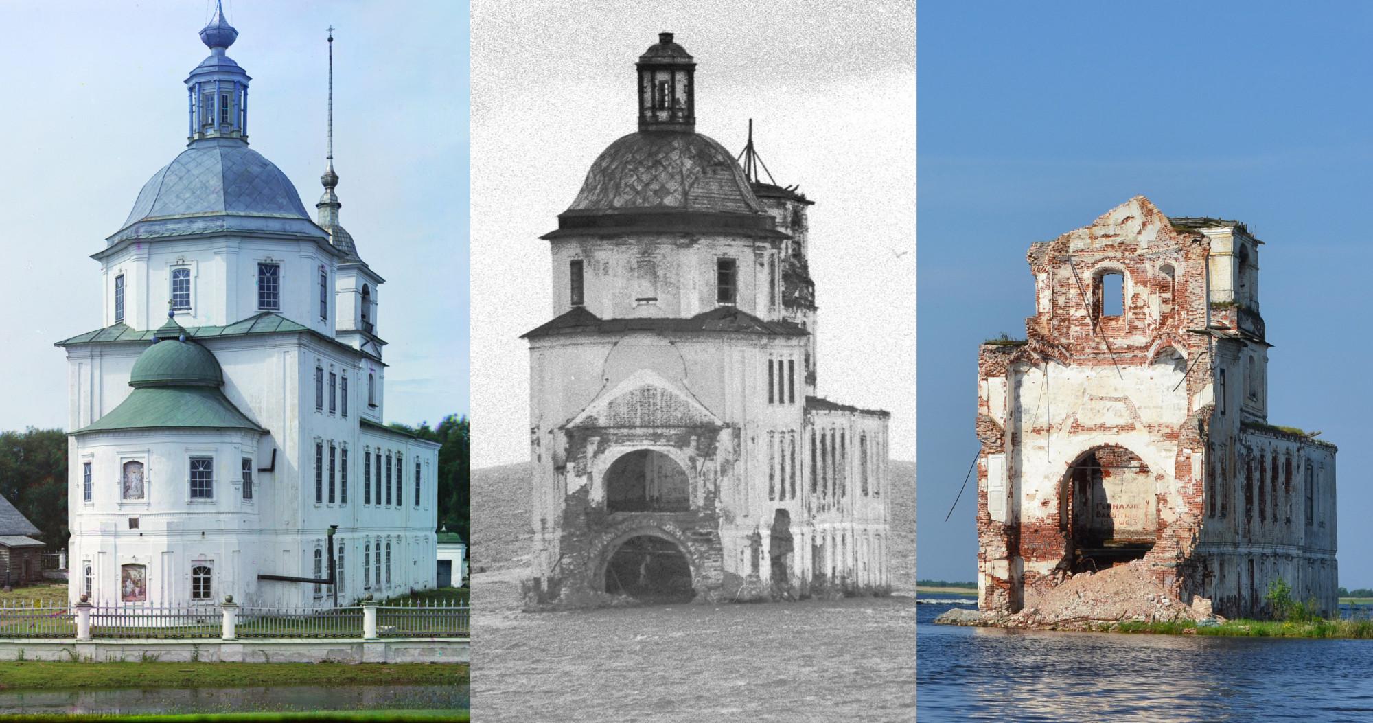 Храм Рождества Христова в Крохино 1909-1991-2013
