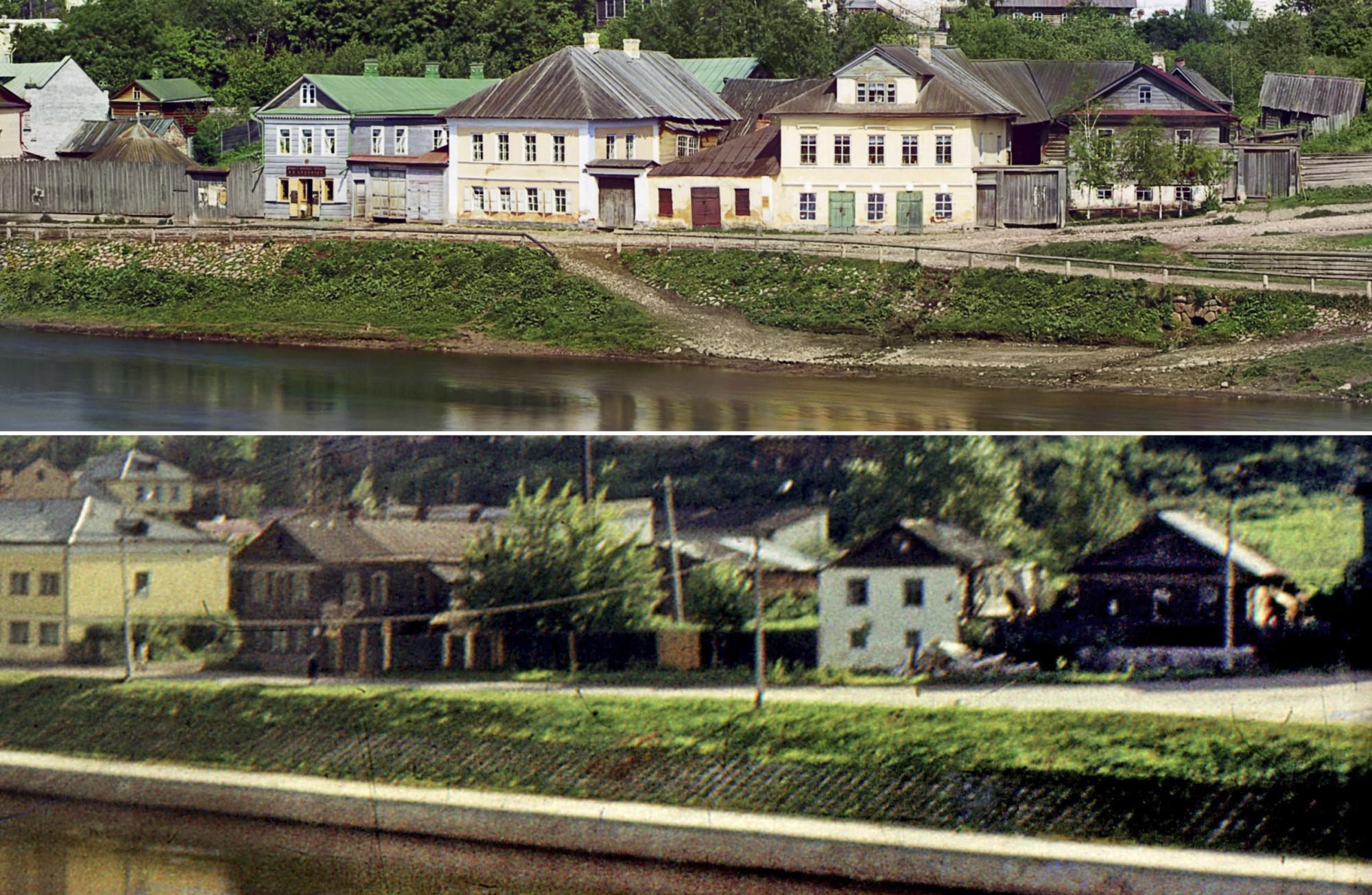 Торжок. Тверецкая набережная 1910-1972 гг