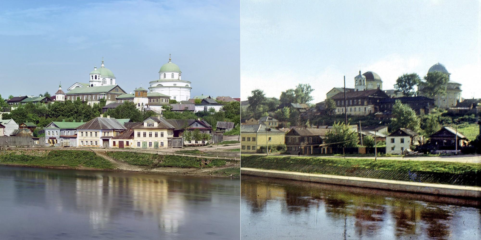 Торжок. Тверецкая набережная 1910-1972