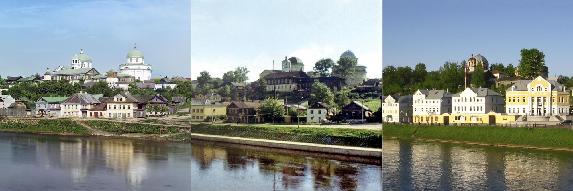 Торжок. Тверецкая набережная 1910-1972-2010