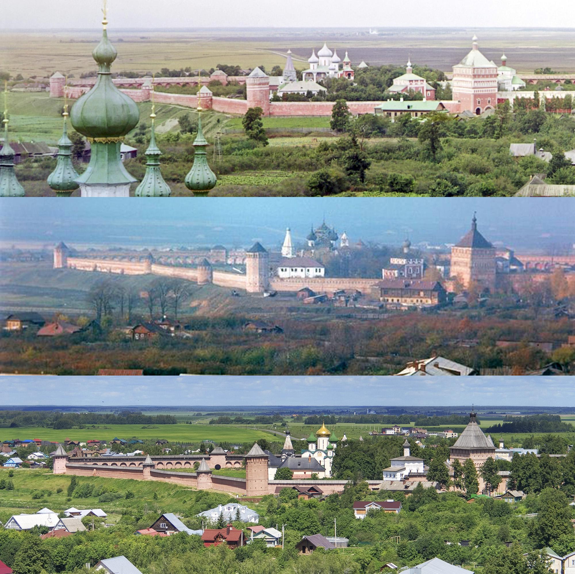 Спасо-Евфимиев монастырь сверху 1912-1968-2017