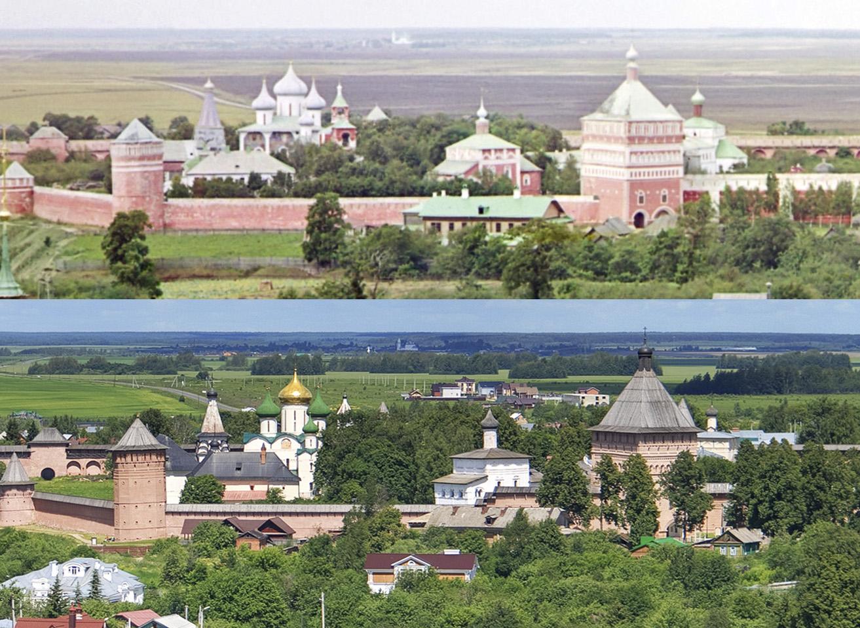 Спасо-Евфимиев монастырь сверху 1912-2017 гг