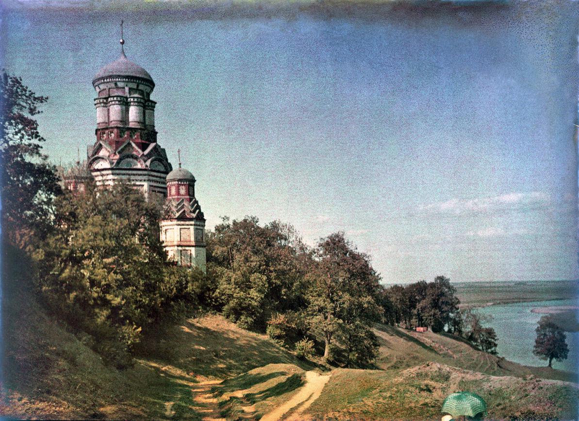 Один из первых цветных снимков Москвы