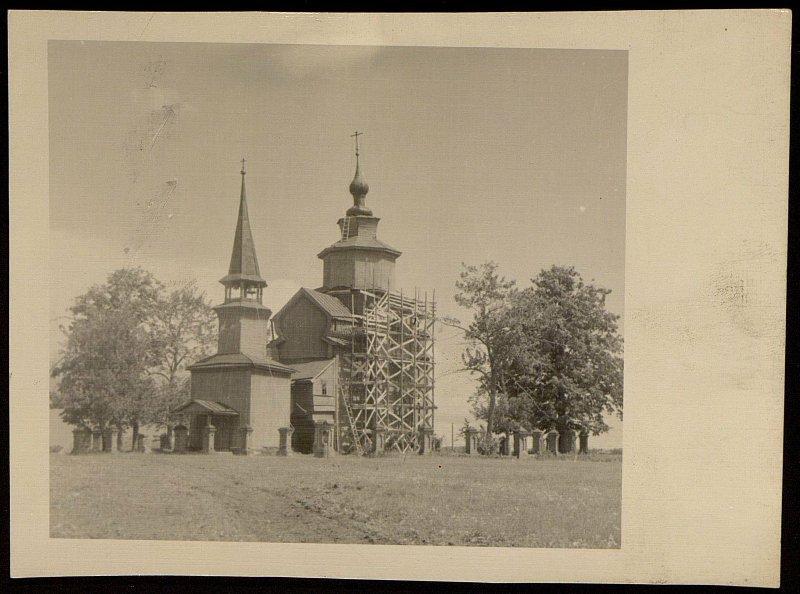1955 Деревянная церковь Иоанна Богослова на реке Ишне, А.В.Никитин2