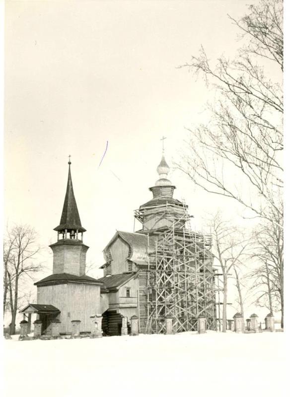 1957 Церковь Иоанна Богослова в процессе реставрации