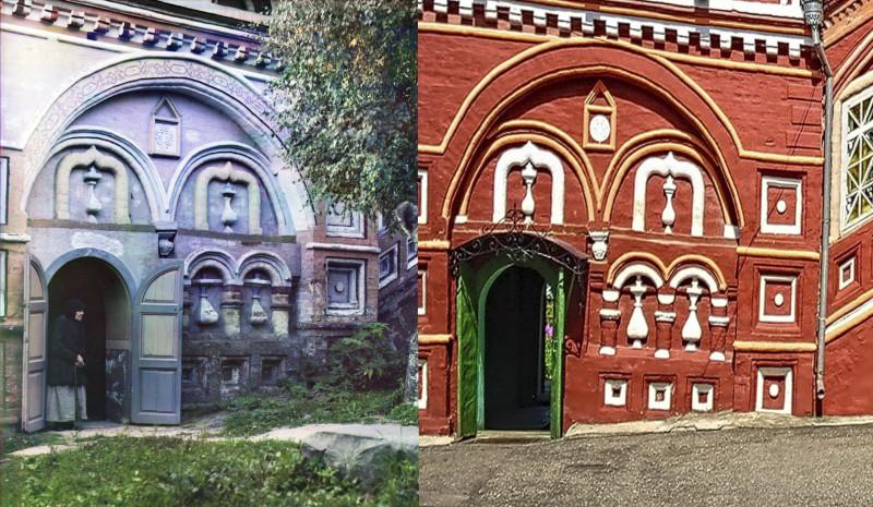 Этюд Во дворе церкви Воскресения на Дебре 1911-2018