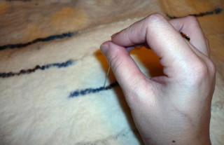 Валяние из шерсти в технике мокрого валяния на примере палантина