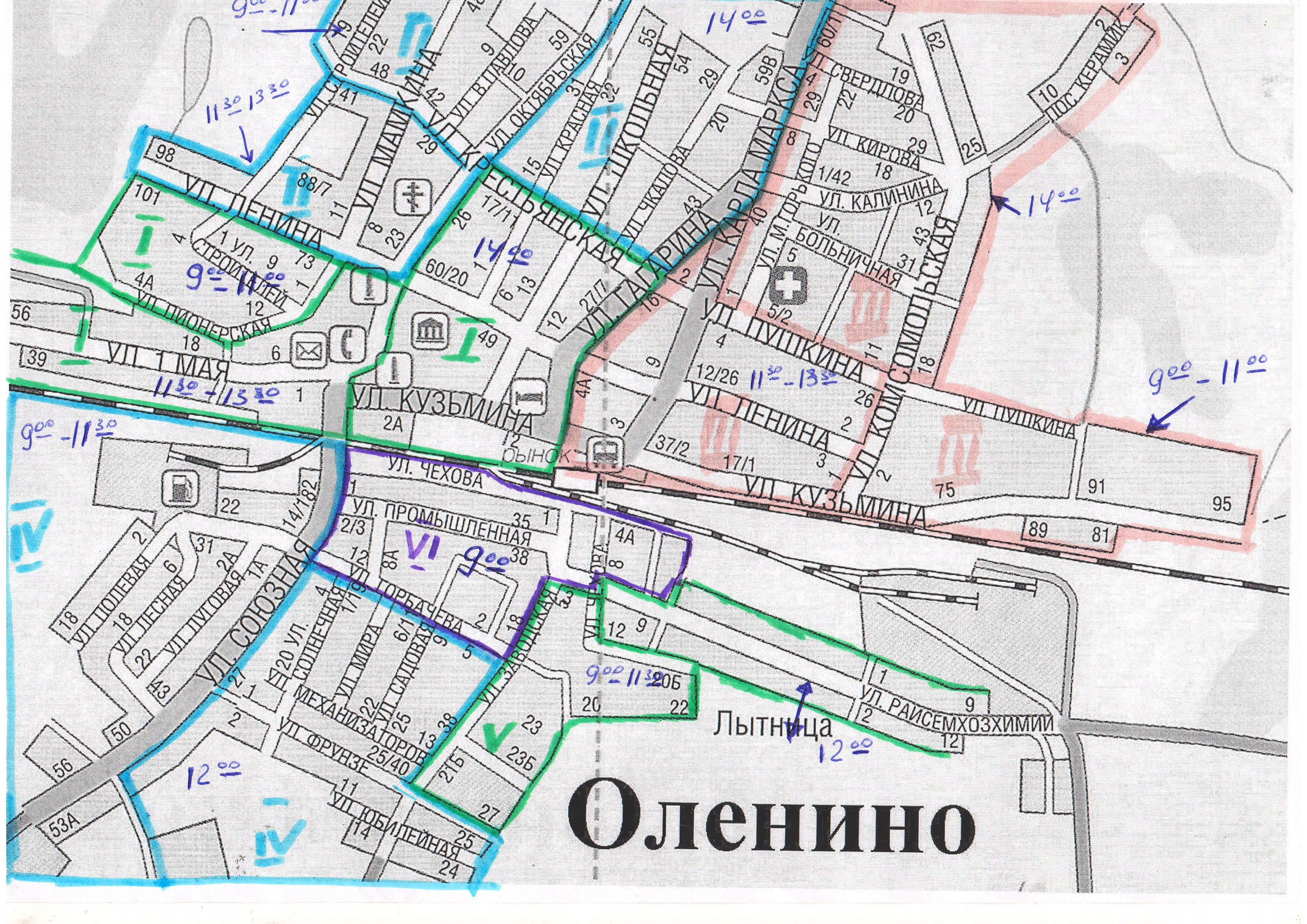 Схема работы техники в Субботник